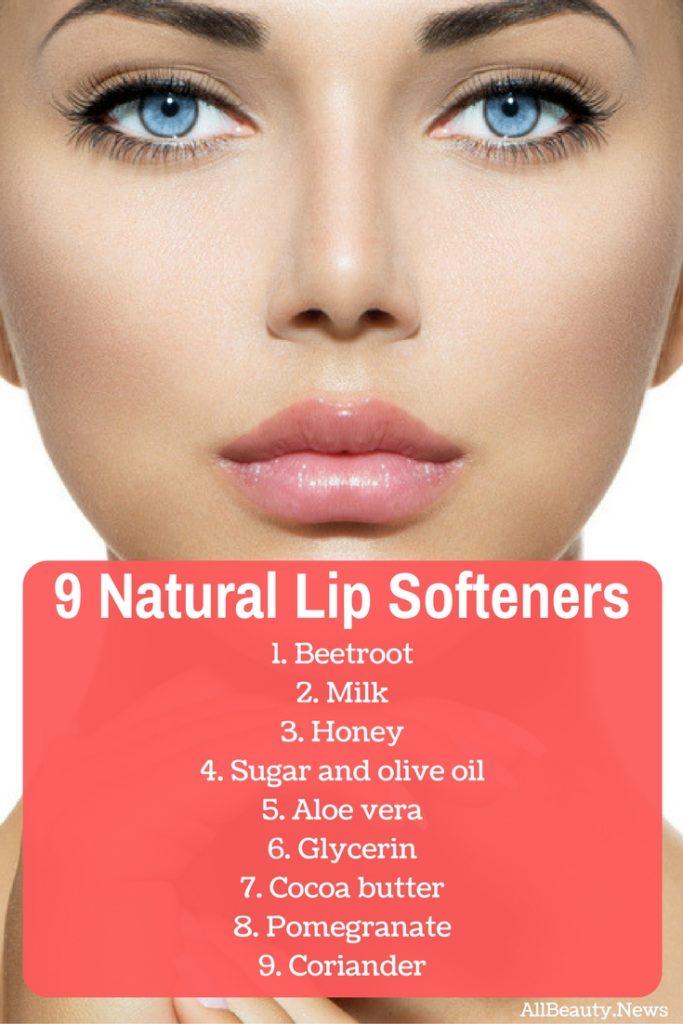 Natural lip softeners