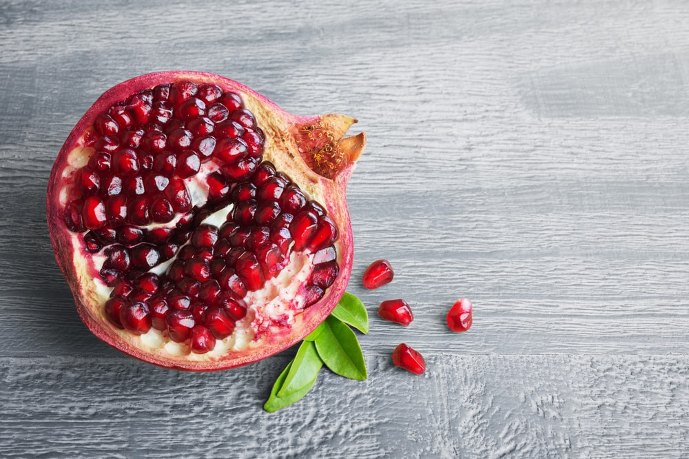 Pomegranite for softening lips naturally