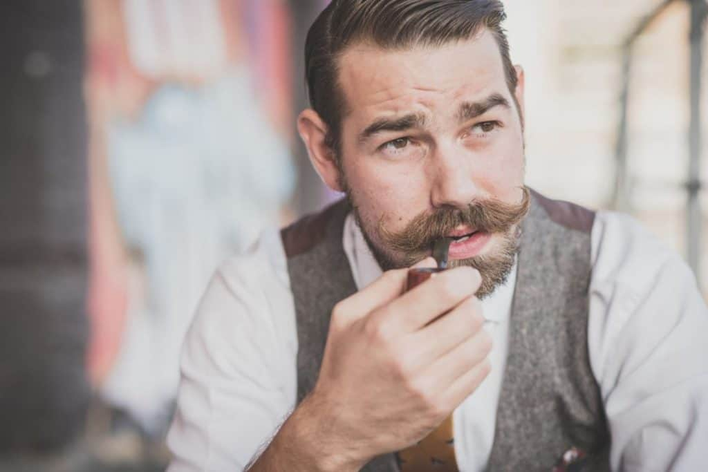 man with great looking mustache